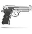 beretta classic gun vector image