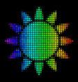 bright dotted sun icon vector image