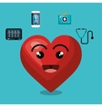 cartoon heart icon medical design isolated vector image