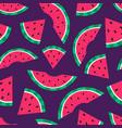 cartoon seamless pattern summer background vector image vector image