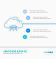 cloud computing data hosting network infographics vector image