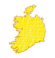 colored ireland map vector image vector image