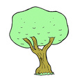 comic cartoon tree vector image vector image