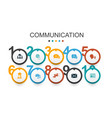 Communication infographic design template internet