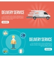 Delivery service horizontal website templates vector image vector image