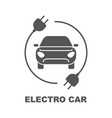electro car logo flat digital icon for web and vector image vector image
