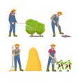 farming cultivation and people vector image