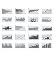 financial market information business graphs vector image vector image