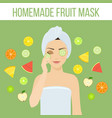 fruit mask vector image