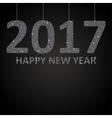 Glittering Silver sequins Number 2017 string vector image