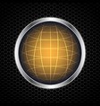globe with abstract metal texture vector image vector image