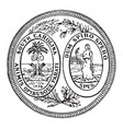 great seal state south carolina vector image vector image