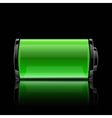 green battery full charge with lighting vector image