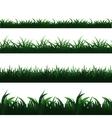 Green seamless grass borders set vector image vector image