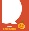 halloween sale poster design on orange background vector image