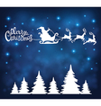 Holiday background with Santa Claus vector image vector image