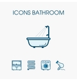 Icons bathroom set vector image
