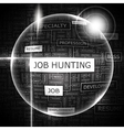 JOB HUNTING vector image
