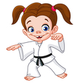 karate girl vector image
