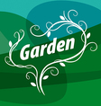 logo of floral ornament on a green background vector image