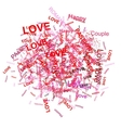 Love word background for your design vector image vector image