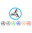 moving men rounded icon vector image vector image