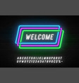 neon light linear promotion ribbon banner price vector image