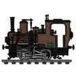 old brown small steam locomotive vector image vector image