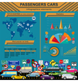 Passenger car transportation infographics vector image vector image