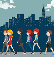 People walking on the street vector image vector image