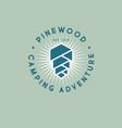 pine cone wood logo camping resort adventure vector image vector image