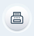 printer icon linear style vector image