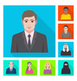 profile and portrait symbol vector image