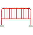 Red barrier vector image vector image