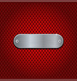 red diamond perforated background with metal vector image vector image