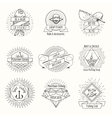 Retro fishing logo or labels set vector image vector image