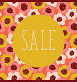 sale poster floral background coral vector image