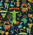 seamless pattern with traditional brazilian items vector image