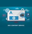 seo content service concept search vector image vector image