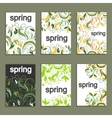 Set of beautiful spring prints for design vector image
