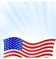 Shiny American national flag waving for Fourth of vector image vector image