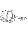 sketch truck without cargo coloring book cartoon vector image vector image