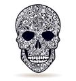 skull black white vector image