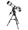Small astronomic telescope vector image