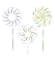 sparklers vector image vector image