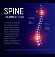 spine injury treatment xray human back vector image