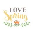 Spring art text composition vector image vector image