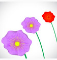 stylized purple flowers vector image vector image