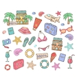 Summer vacation elements vector image