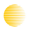 sun logo round circle triangle lines halftone vector image vector image